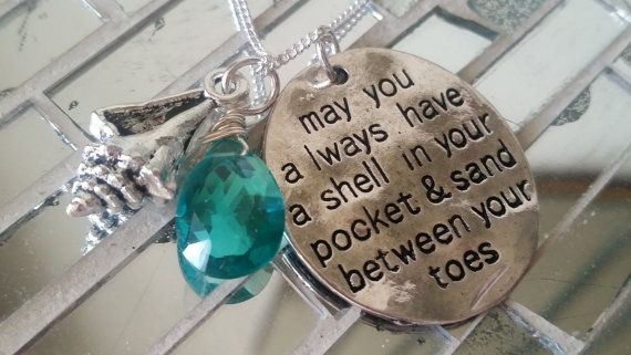 Silver Shell in Your Pocket Necklace with Whelk Shell Charm:  https://www.etsy.com/listing/258343096/silver-shell-in-your-pocket-necklace