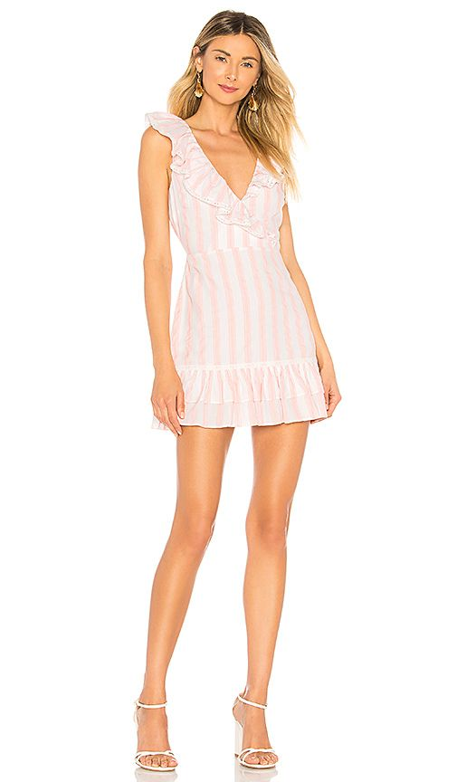 35bd35ebcee6f7 Tularosa Bennet Dress in Pink Double Stripe