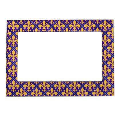 New Orleans Mardi Gras Fleur de Lis Magnetic Picture Frame - party gifts gift ideas diy customize