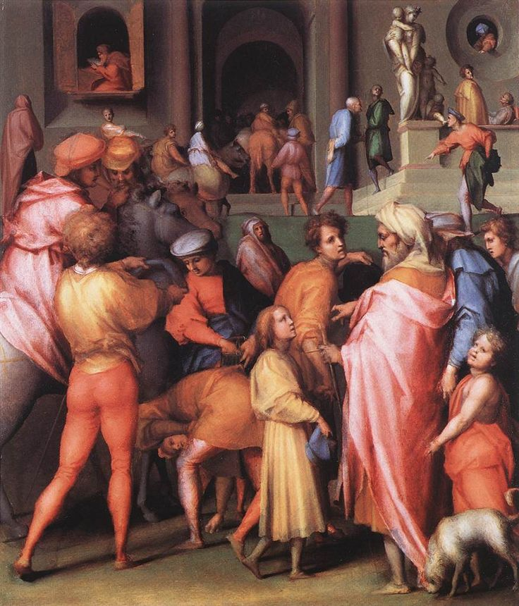 Pontormo – Joseph Being Sold to Potiphar.  Art Experience NYC  www.artexperiencenyc.com/social_login/?utm_source=pinterest_medium=pins_content=pinterest_pins_campaign=pinterest_initial