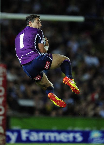 Get up there Billy Slater from the Melbourne Storm