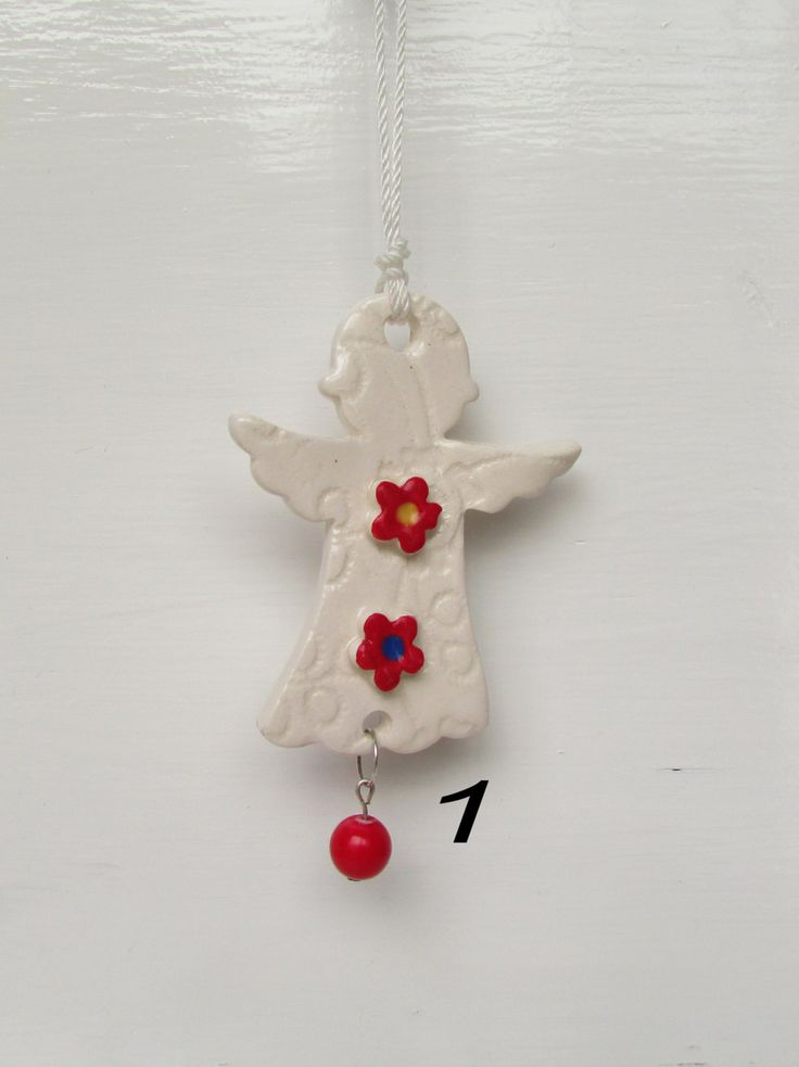 White Ceramic Angel  Empowered with Reiki Energy. Gives as a gift to teachers,friends, babies,hang in your home to call in the Angels . by DelabudCreations on Etsy
