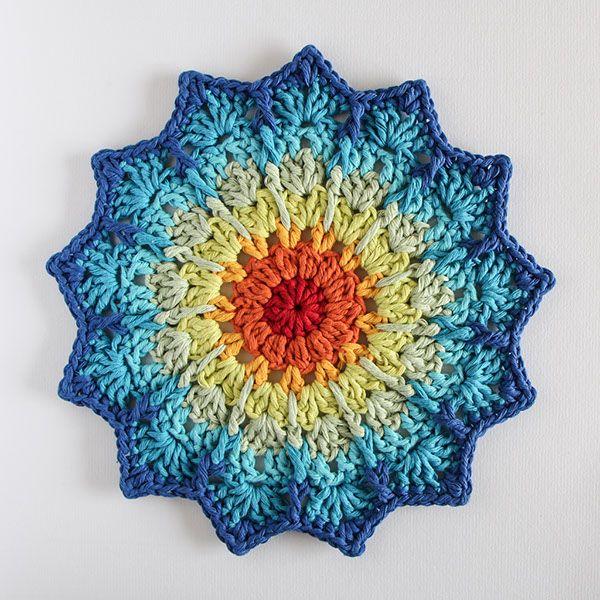 bymami hækle hæklet starflower mandala doily DIY freebie gratis opskrift free pattern diagramcrochet