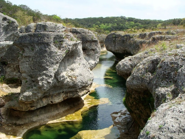 The Narrows, The Texas Land Conservancy private property viewed by invitation only, is on the Blanco River in Hays County, Texas. Go to http://www.yourtravelvideos.com/view.php?view=146960 or click on photo for video and more on this site.