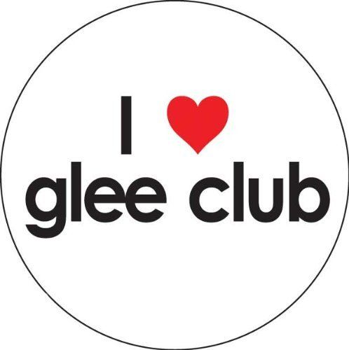 """I Love Glee Club Button by Music Treasures Co.. $1.25. 1.75"""" Dia, Carded"""