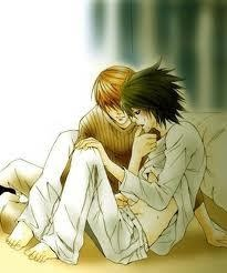 I know its meant to be Fang and Iggy from Maximum ride but, it looks more like L and Light from deathnote