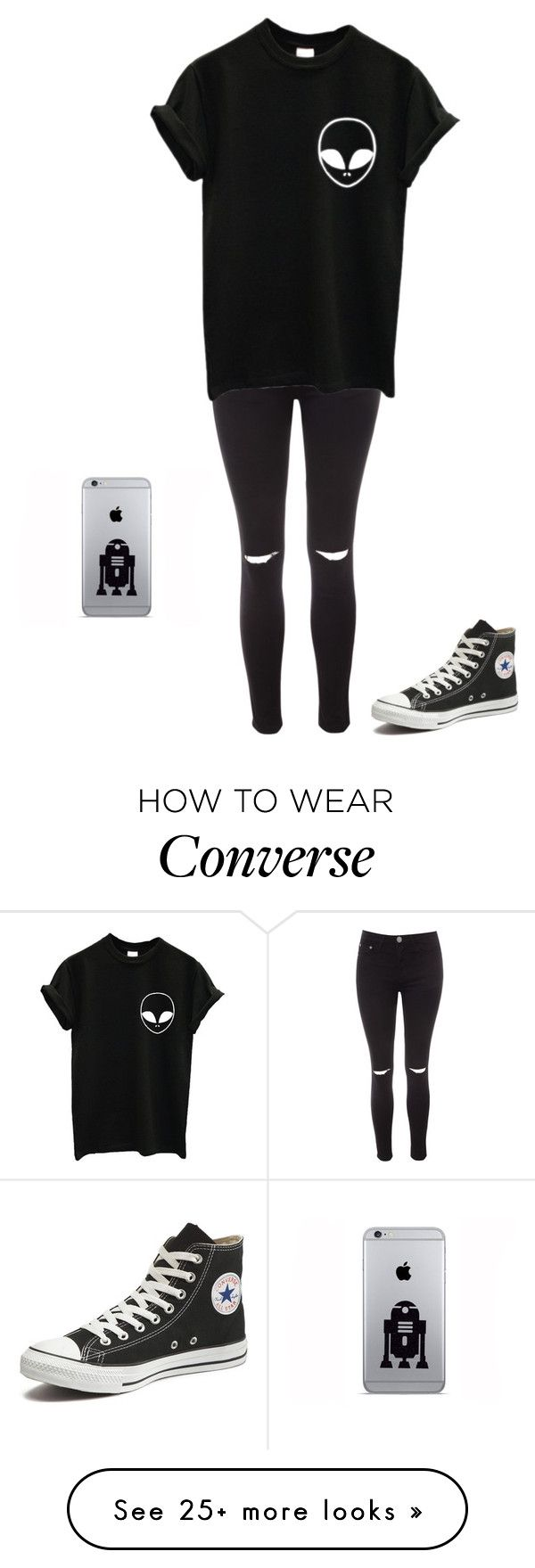 """""""Untitled #1017"""" by laylahnisoutfits on Polyvore featuring Glamorous and Converse"""