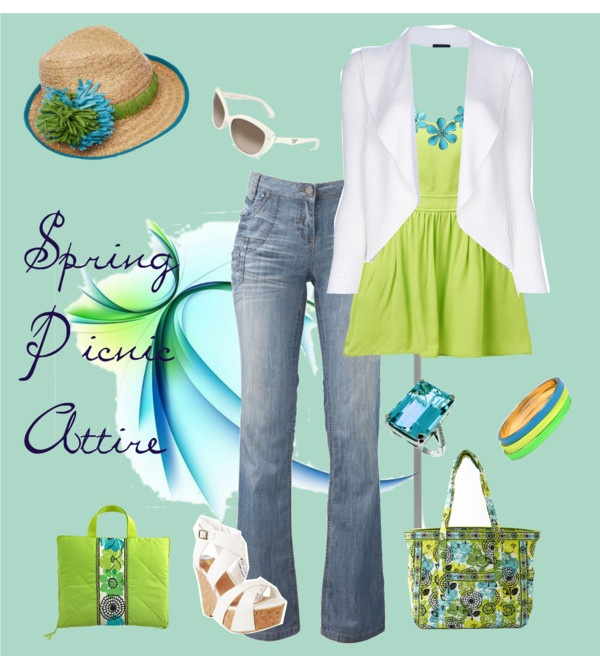 """""""Spring Picnic Attire"""" by kimberlys12 on Polyvore"""