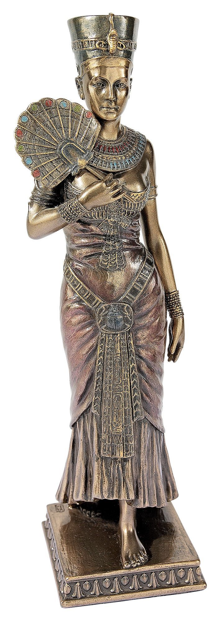 Features:  -Material: Designer resin.  -Hand painted.  Product Type: -Statue.  Theme: -Historic.  Subject: -People.  Finish: -Faux bronze.  Handmade: -Yes.  Primary Material: -Resin.  Age Group: -Adul