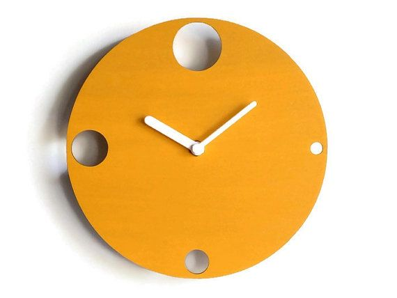 Laser Cut Wood Design Clockmodern Wall Clockwood Wall By LOHNhome. Contemporary  ClocksModern ClockMinimalist ...