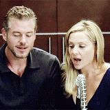 Grey's Anatomy Season 8 Bloopers. Eric Dane and Jessica Capshaw.