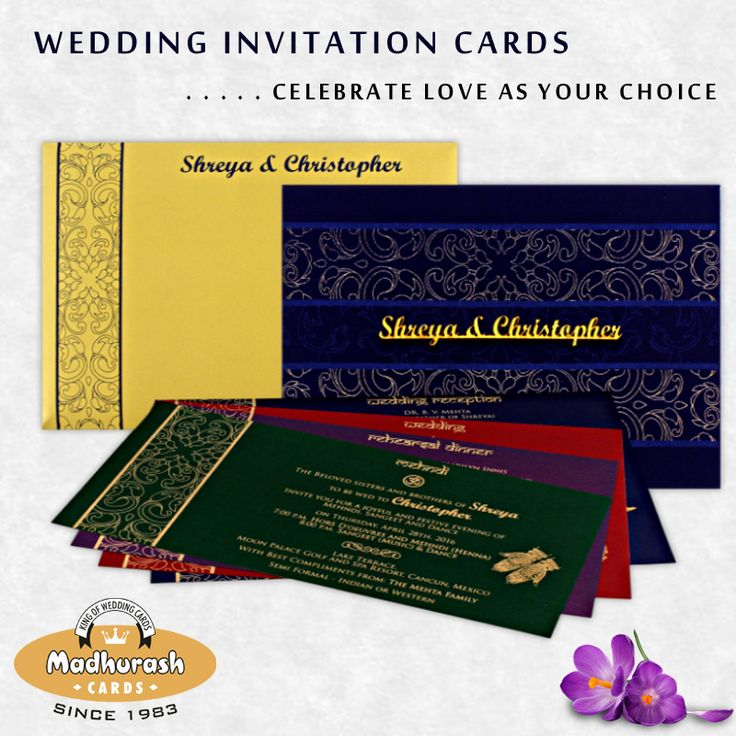Buy Customized Wedding Cards with innovative