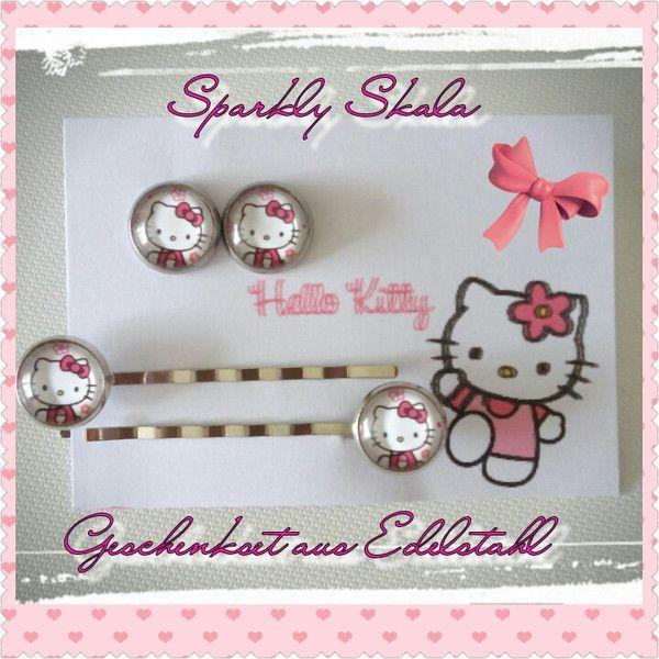 Schmucksets - Set Hello Kitty Geschenkidee - ein Designerstück von SparklySkala bei DaWanda