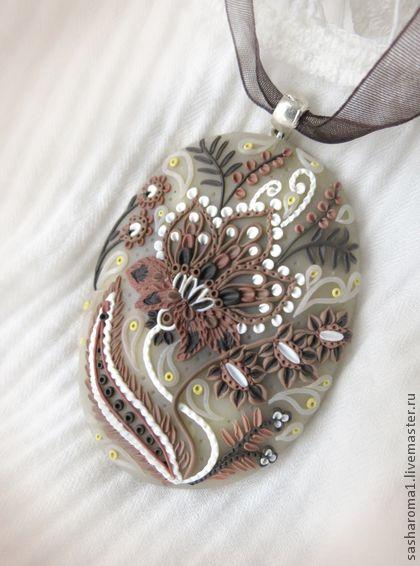 """Комплекты украшений ручной работы. Ярмарка Мастеров - ручная работа Комплект """"Цветок какао"""". Handmade."""