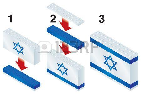 Blocchi di costruzione che fanno bandiera israeliana Archivio Fotografico - 23114138