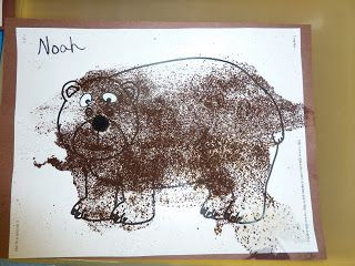 Itty Bitty Craft: Coffee Bear Craft - We created a similar craft where we painted our bears and their surroundings and then glue coffee onto the bear for a fun texture and smell. You can find a similarly done craft here: Ramblings of a Crazy Woman: Books with Crafts