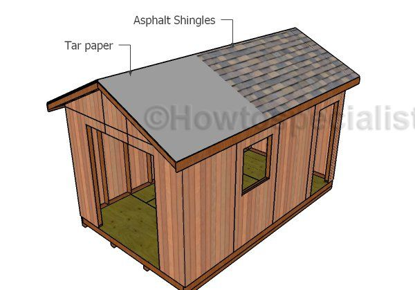 10x16 Gable Shed Roof Plans Howtospecialist How To Build Step By Step Diy Plans In 2020 Roofing Roofing Diy Roof Repair