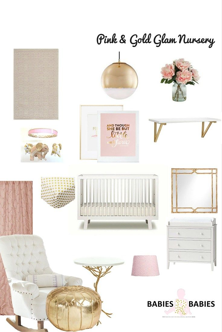 Pink and Gold Glam Nursery #Pink #Gold #Gorgeous Nursery- Babies R Babies