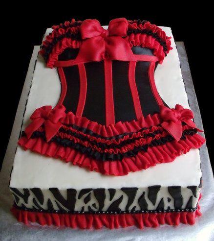 black u0026 red lingerie shower cake