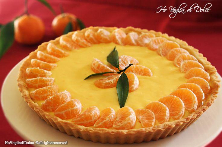 Crostata con crema pasticcera e mandarini, ricetta autunnale