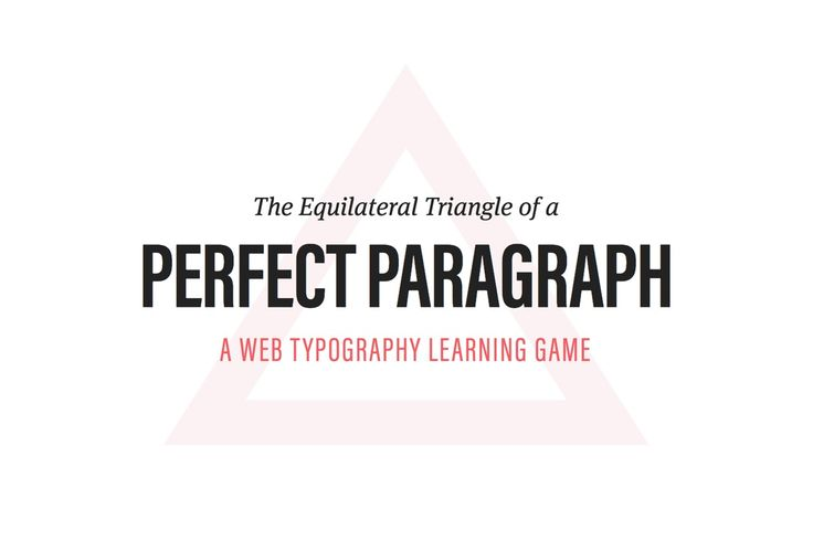 Learn how to set a typographically perfect paragraph by adjusting font-size, line-height and line length in this cool learning game.