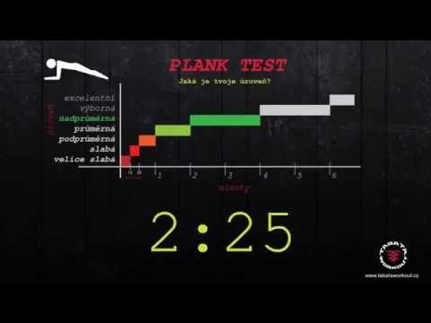Plank test - časovač