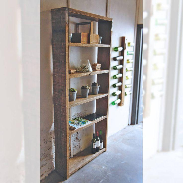 Reclaimed Wood Scaffold Shelving Unit