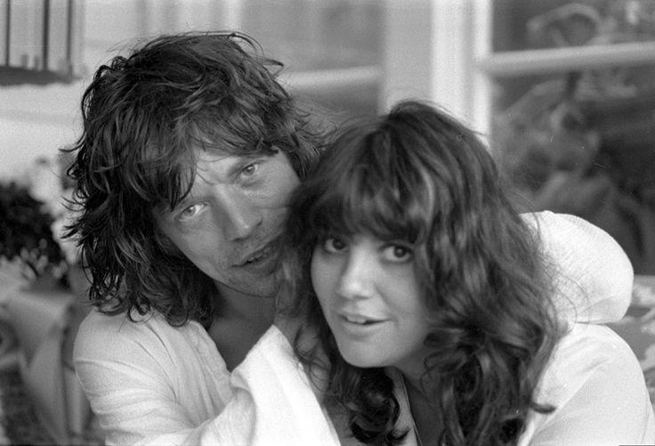 Linda Ronstadt and Mick Jagger