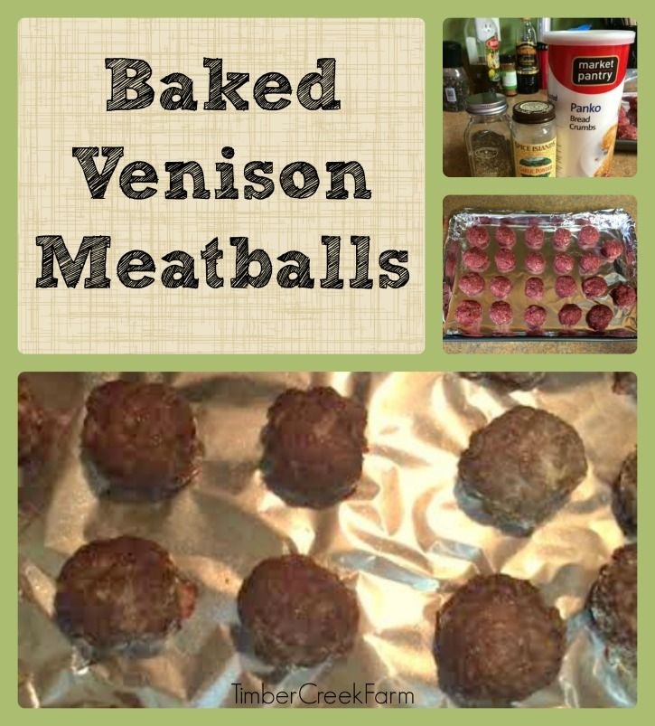 Dinner will be ready in a flash when you make this baked venison meatballs for the meal. Easily substitute ground beef and the recipe still works well