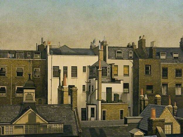 The Backs of Houses, Harley Street, London. Algernon Cecil Newton, 1925.