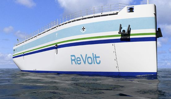 The ReVolt. A new inspirational ship concept.  Taking current technology to the extreme, DNV GL has developed a revolutionary concept for an unmanned, zero-emission, shortsea vessel.