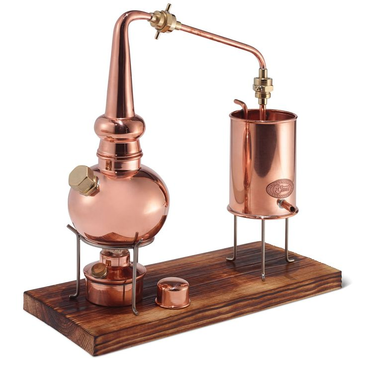 The Classic German Copper Distiller - Hammacher Schlemmer. Handcrafted in Eiterfeld, Germany, where medieval Turks left traces of their secret alchemy knowledge as they passed through the region, this is the classic copper alembic still used for centuries for making floral waters and essential oils. #GiftsforHim