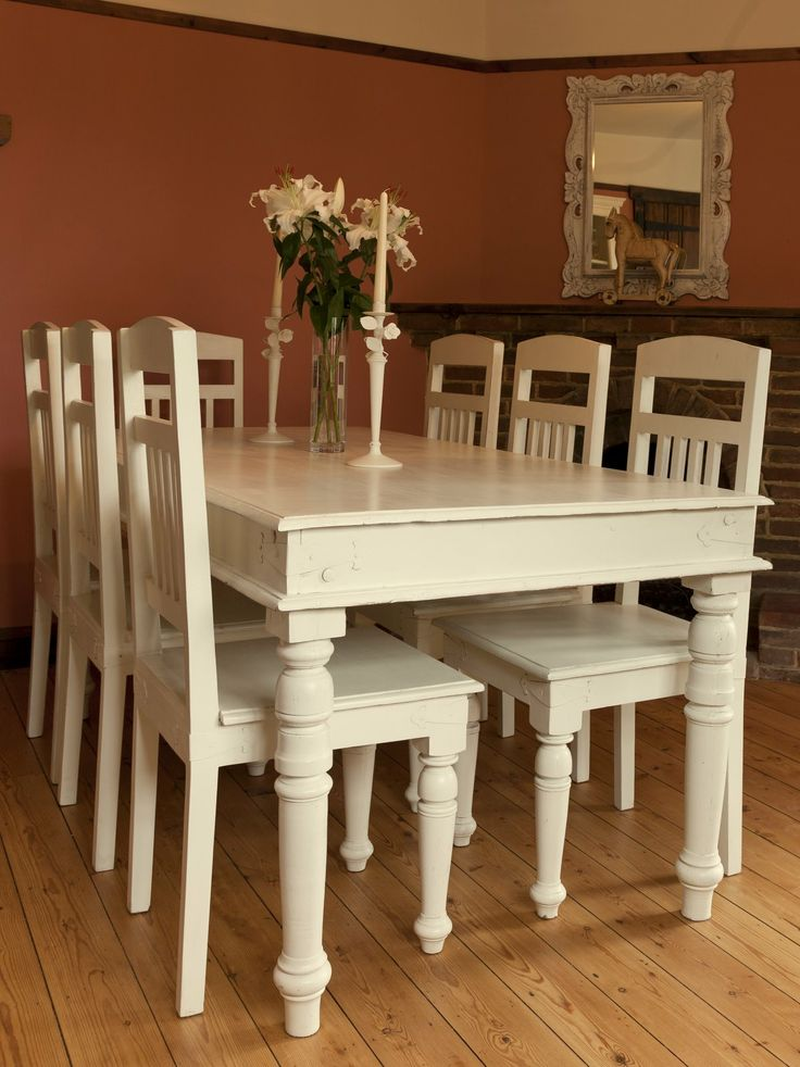 Best Shabby Chic Images On Pinterest Chabby Chic Vanities - Chantilly distressed dining table by little tree furniture