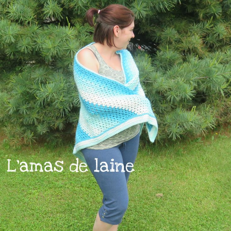 CROCHET PATTERN The Watercolour Shawl. Fun to make. Comfortable. Easy. And beautiful!! Pattern available in english and in french.