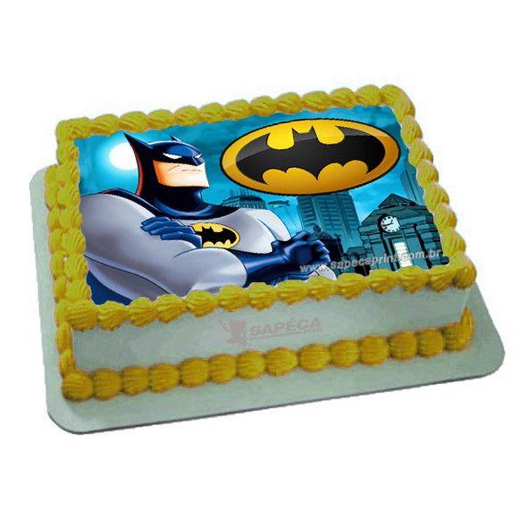 Papel Arroz Batman Brinde Faixas Laterais Com Imagens Papel