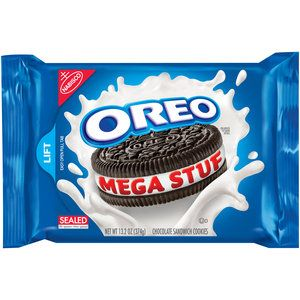 Nabisco Oreo Mega Stuf Chocolate Sandwich Cookies, 13.2 oz