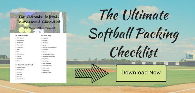 Download our free Softball Tournament Packing Checklist! #softball #free #printable #pdf