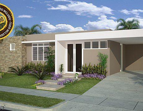 106 best fachadas de casas images on pinterest exterior - Jardines de casas pequenas ...