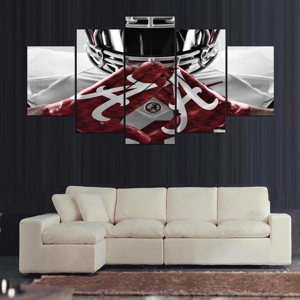 Alabama Crimson Tide College Football Team Sport Canvas Wall Art Football Wall Art Canvas Sport Canvas
