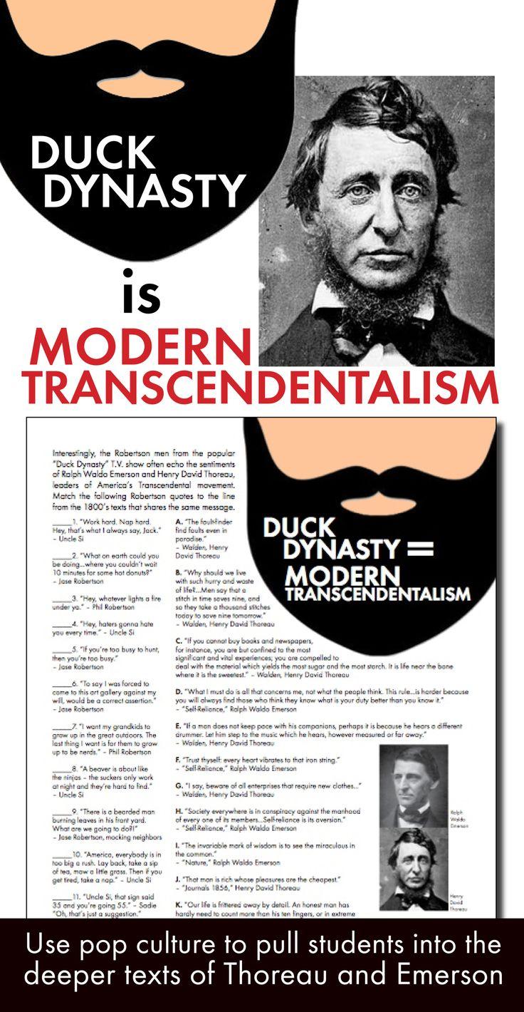 Emerson and transcendentalism
