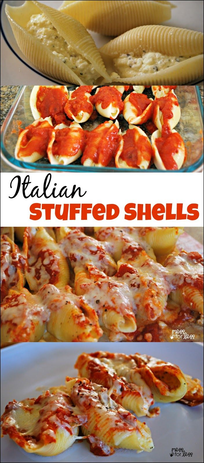 Stuffed Shells Recipe ~ A simple take on a classic Italian dish... These are a delicious meatless option that the entire family will love.