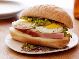 Green Chile Western Ham and Egg Sandwich : Recipes : Cooking Channel