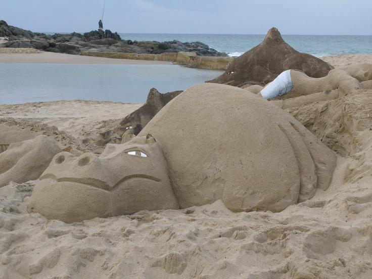 Beach art - Marina beach - KZN - South Africa