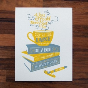 What Katie Does - lovely booky print