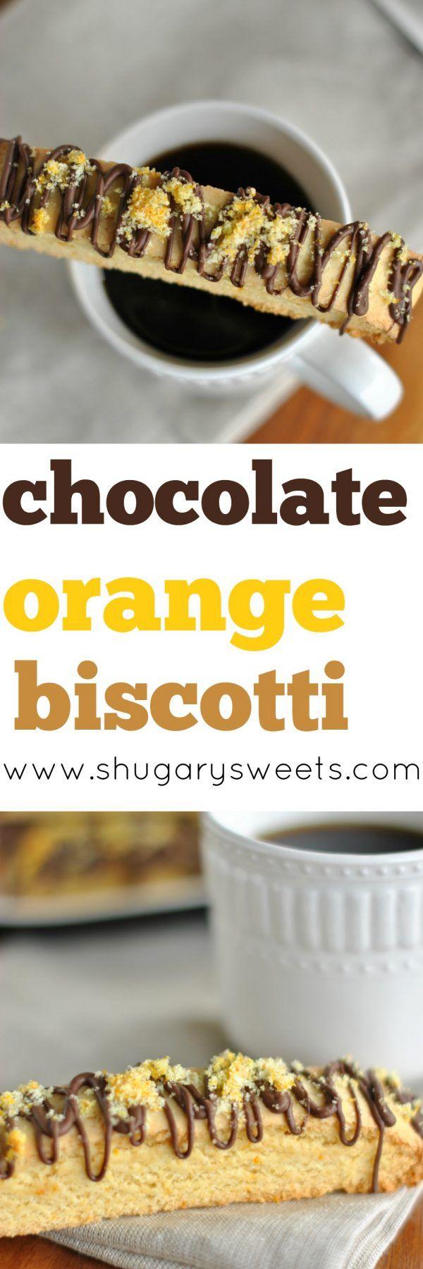 Chocolate Orange Biscotti - Shugary Sweets