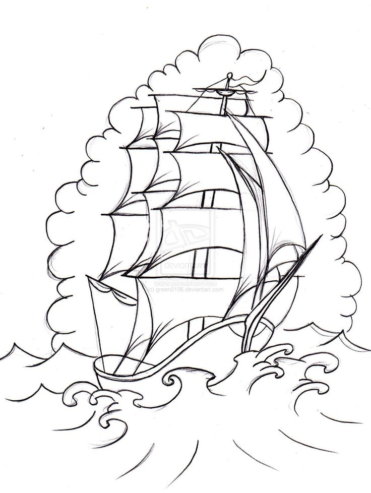 Old School Boat 2 by green2106.deviantart.com on @DeviantArt