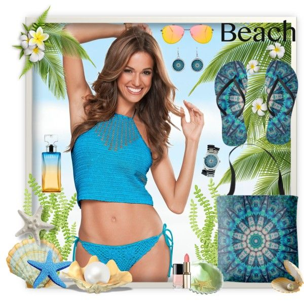A fashion look by www.zazzle.com/htgraphicdesigner* #polyvore #summer #beach #turquoise