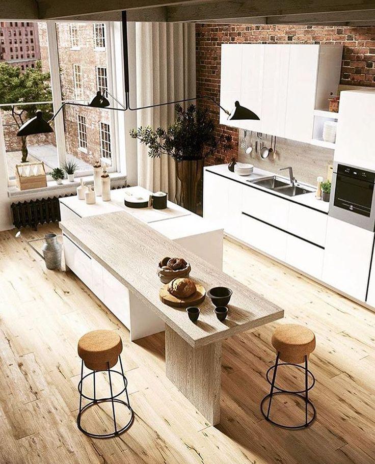 "Styling Properties (@stylingproperties) on Instagram: ""Saturday morning kitchen ENVY!! Via @adesignersmind #interiorinspo #kitchen #kitchendesign…"""