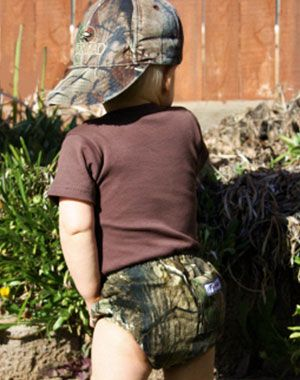 Camo diaper cover - so stinkin' cute. (No pun intended!)