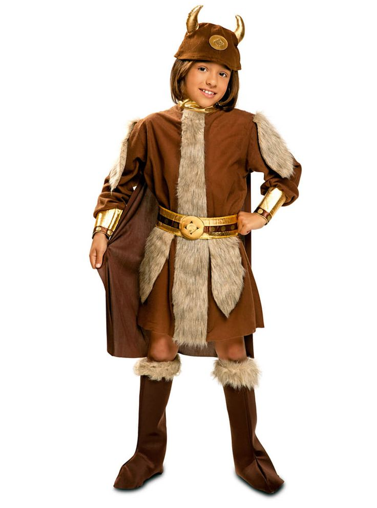 Disfraz de vikingo nórdico rudo para niño